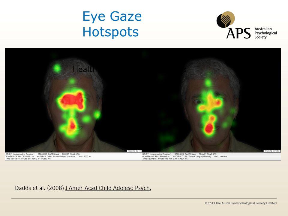 Eye Gaze Hotspots Hi CU boys Cold' conduct problems Healthy boys