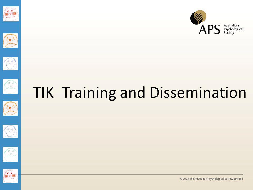 TIK Training and Dissemination