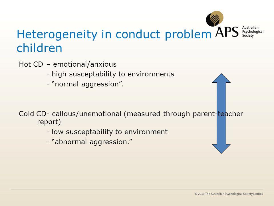 Heterogeneity in conduct problem children