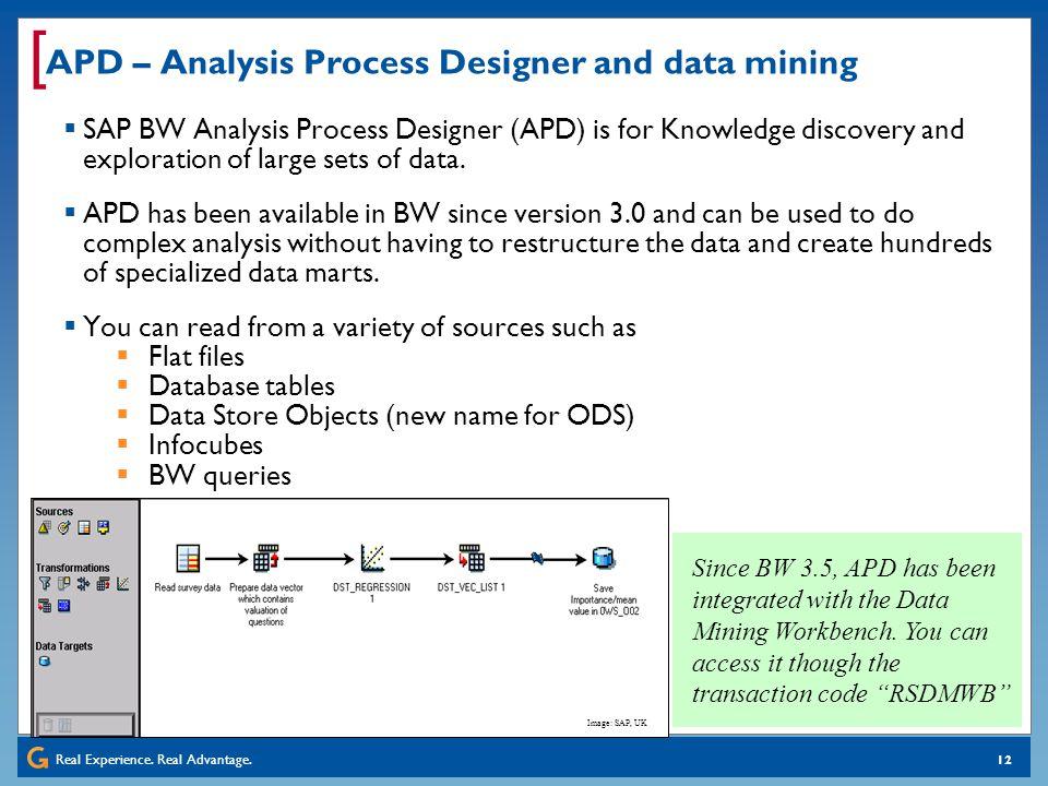 APD – Analysis Process Designer and data mining