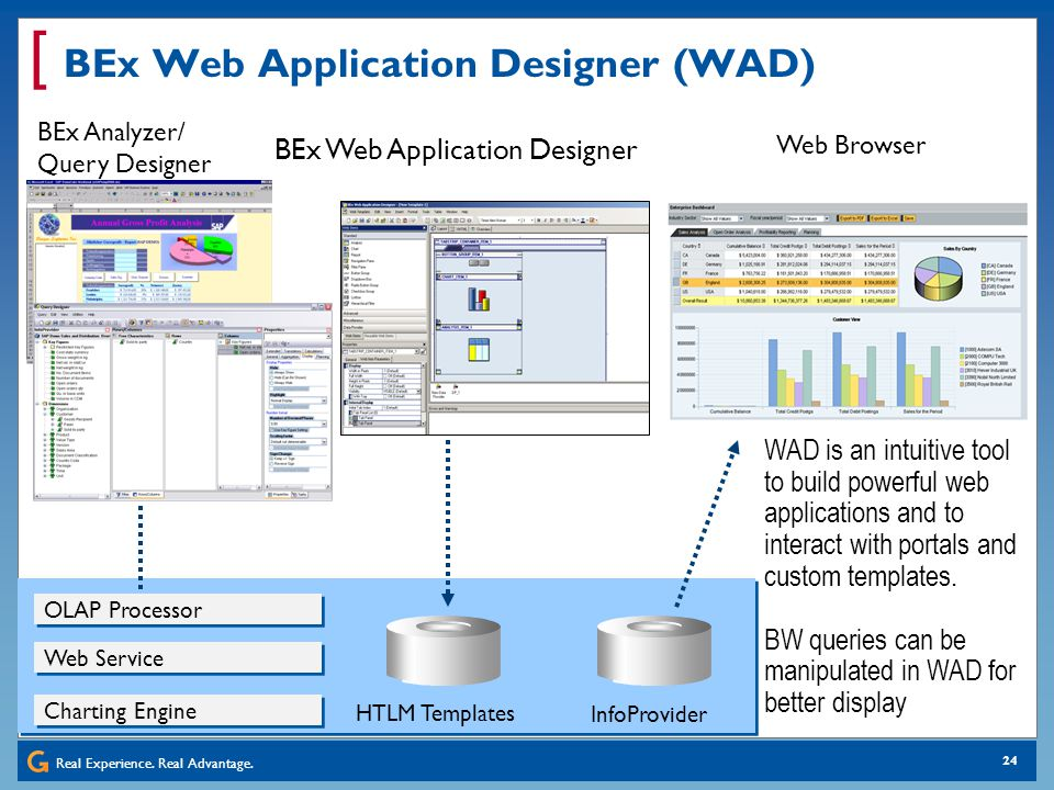 BEx Web Application Designer (WAD)