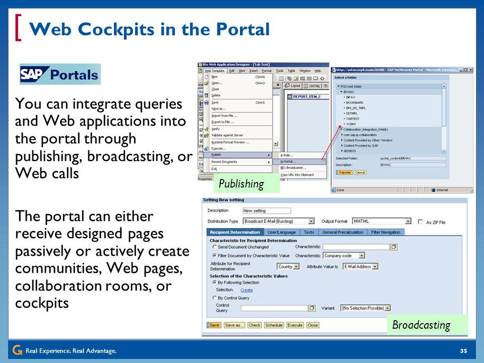 Web Cockpits in the Portal