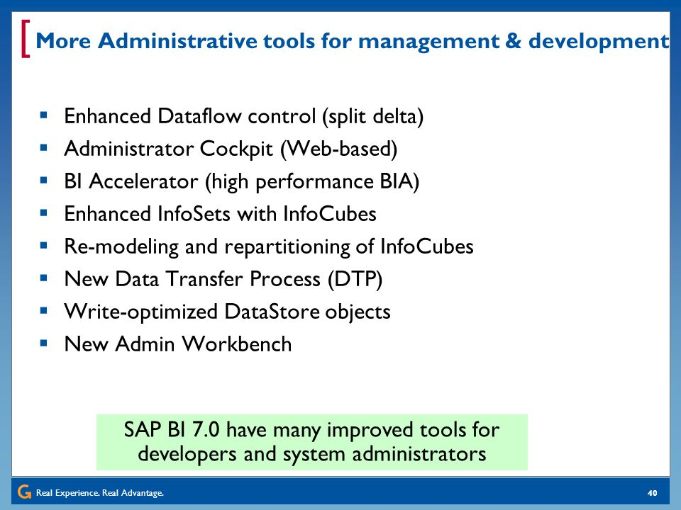 More Administrative tools for management & development