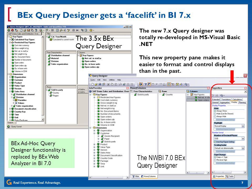 BEx Query Designer gets a 'facelift' in BI 7.x