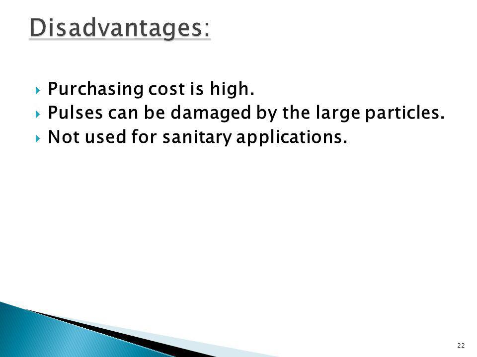 Disadvantages: Purchasing cost is high.
