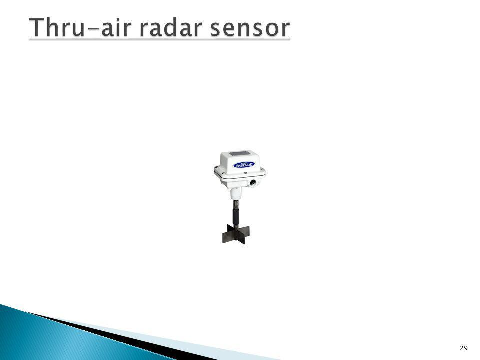 Thru-air radar sensor