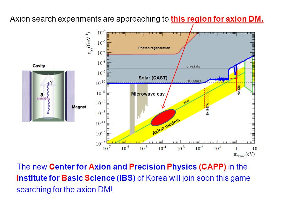 Axion search experiments are approaching to this region for axion DM.