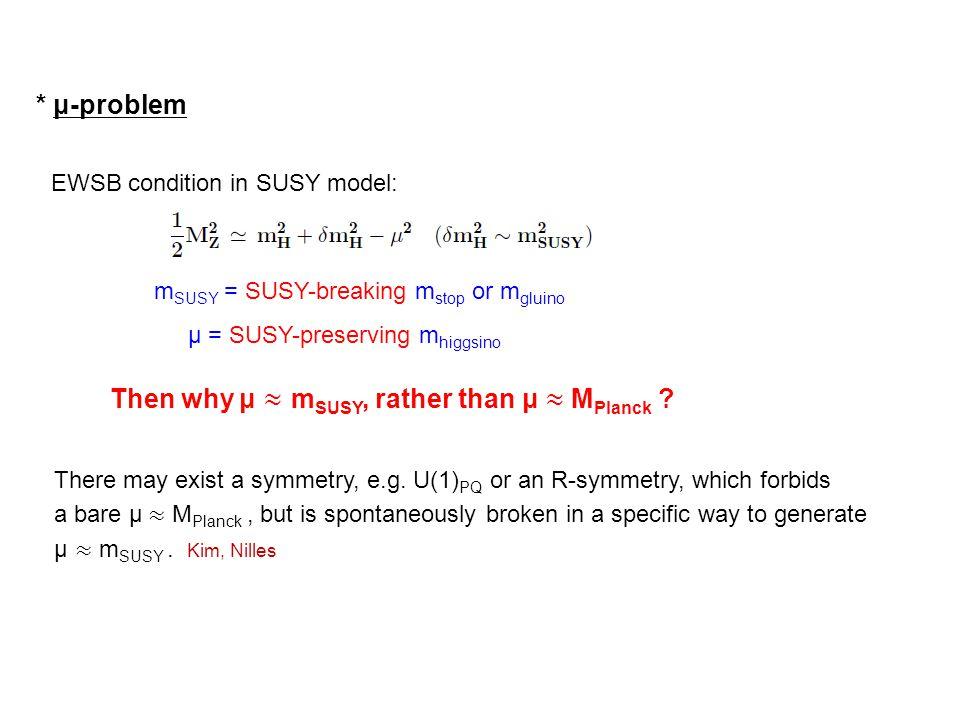 EWSB condition in SUSY model: