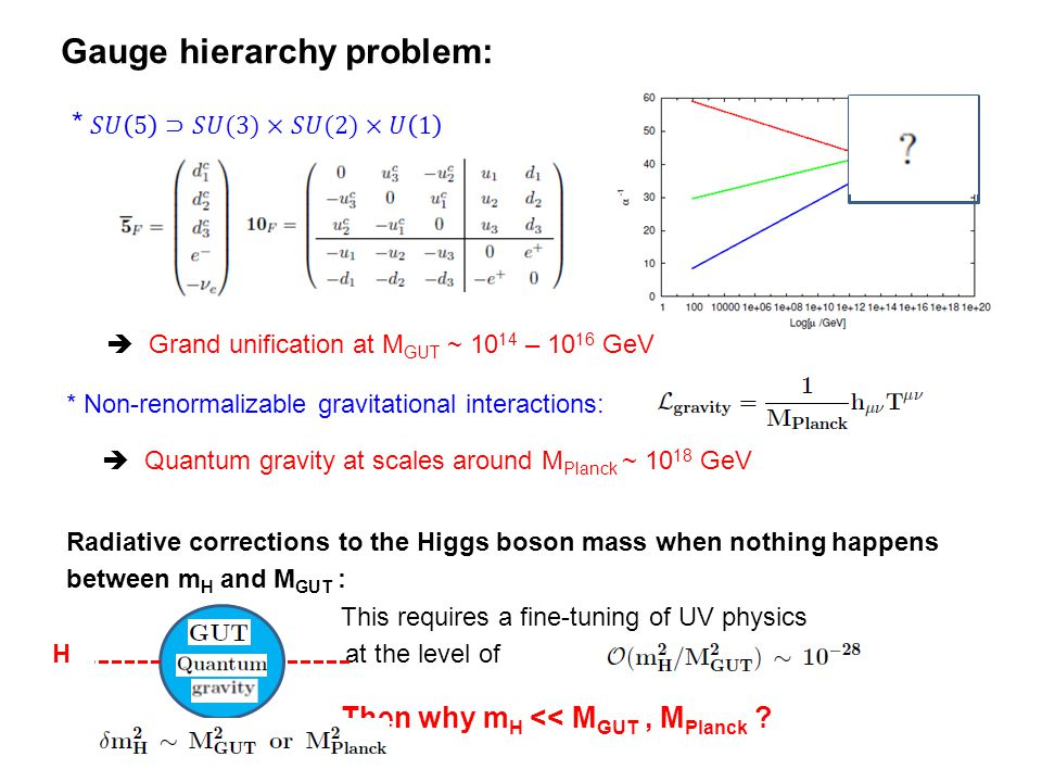Gauge hierarchy problem: