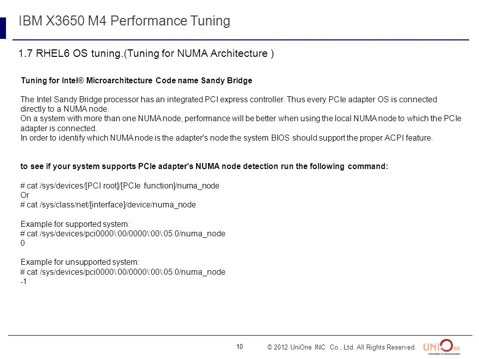 IBM X3650 M4 Performance Tuning