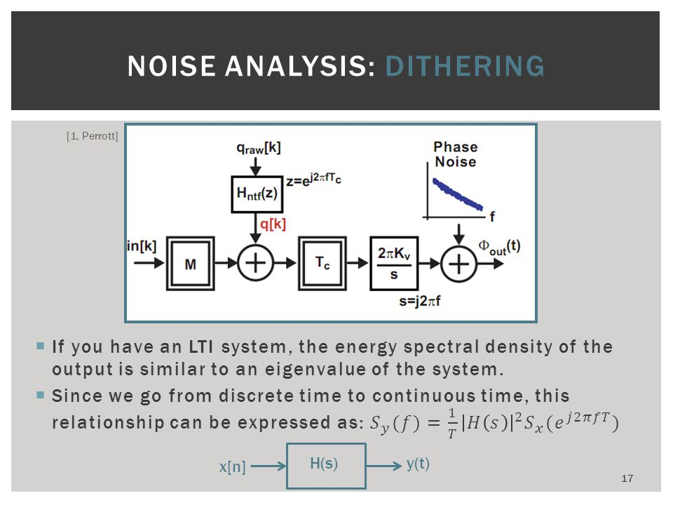 NOISE ANALYSIS: DITHERING