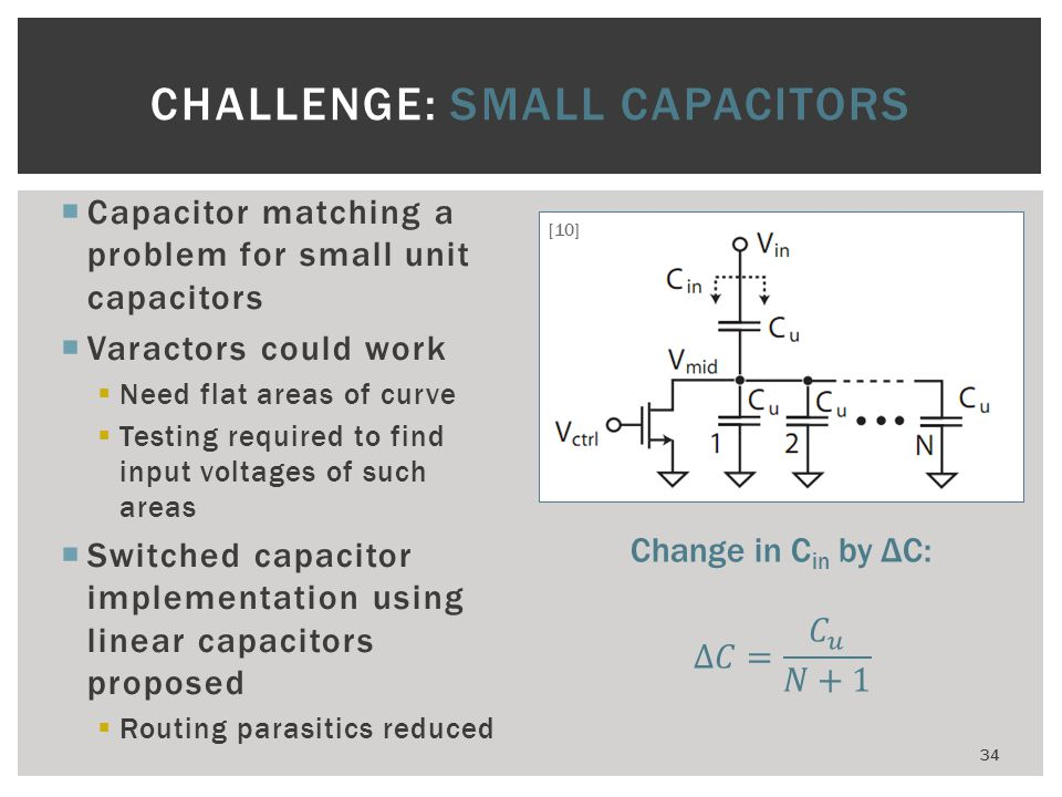 CHALLENGE: SMALL CAPACITORS