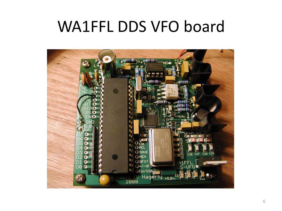 WA1FFL DDS VFO board