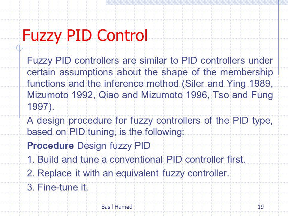 Fuzzy PID Control