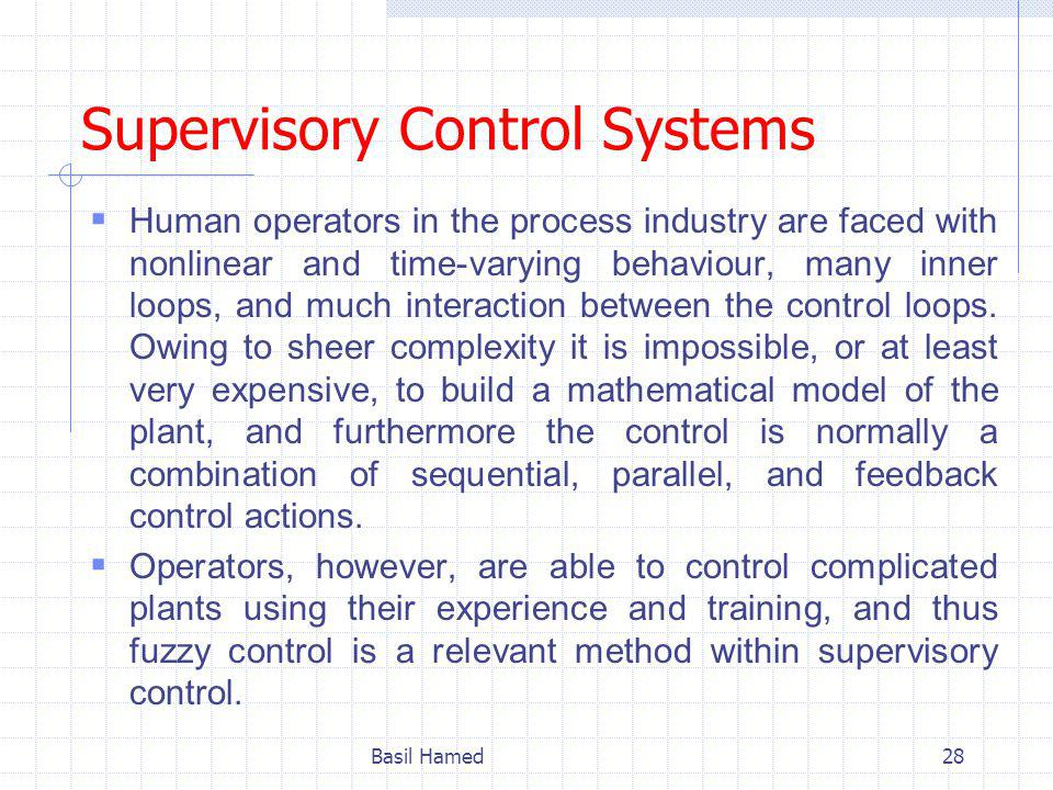 Supervisory Control Systems