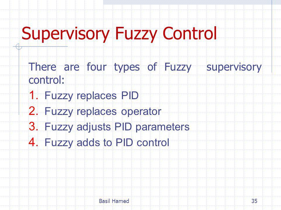 Supervisory Fuzzy Control