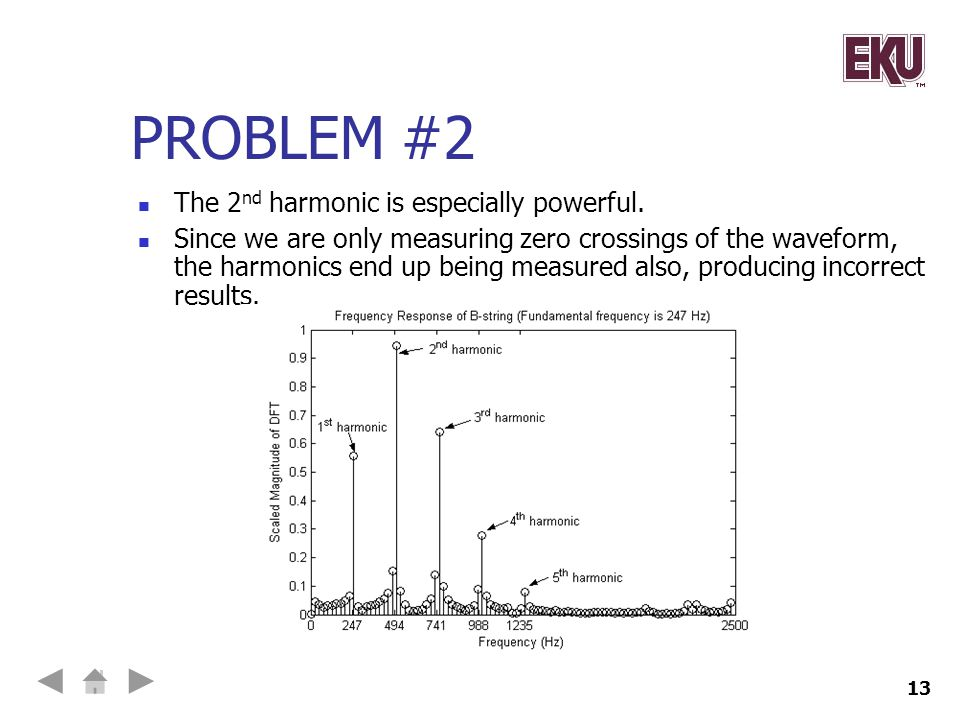 Problem #2 The 2nd harmonic is especially powerful.