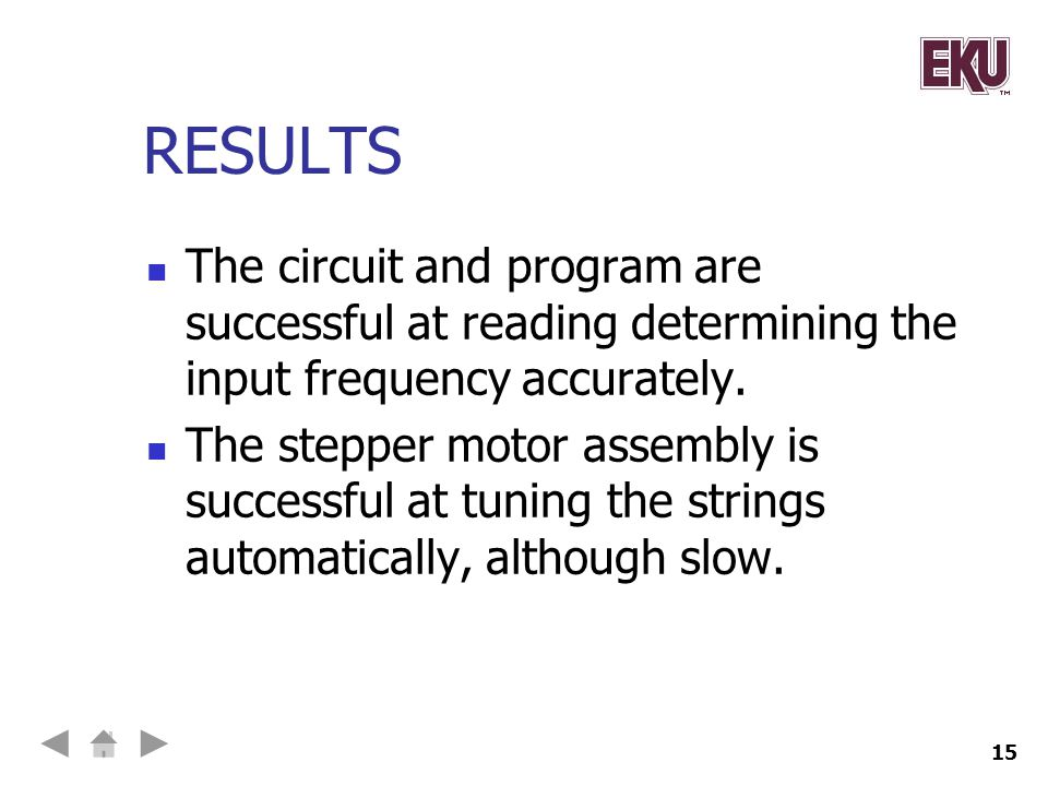 RESULTS The circuit and program are successful at reading determining the input frequency accurately.