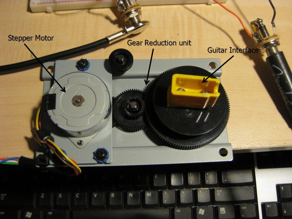 Stepper Motor Gear Reduction unit Guitar Interface