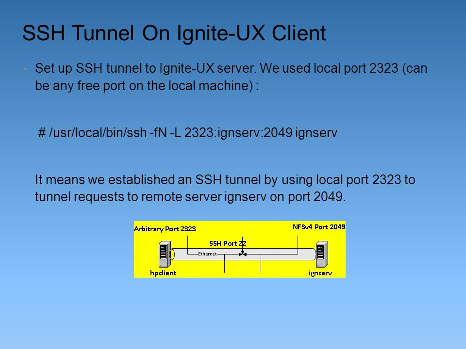 SSH Tunnel On Ignite-UX Client