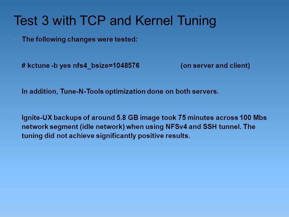 Test 3 with TCP and Kernel Tuning