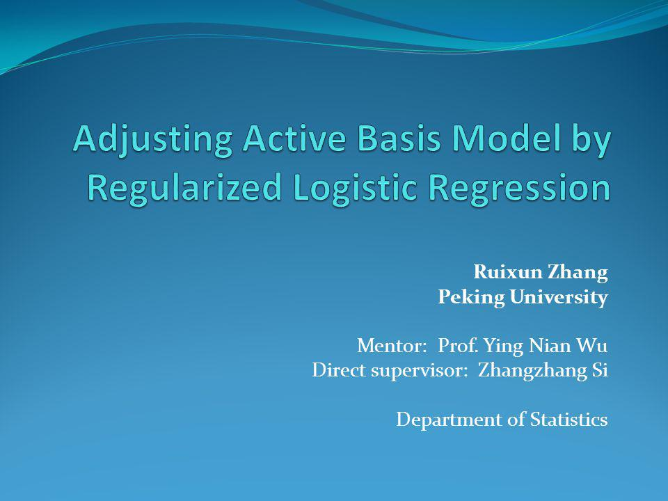 Adjusting Active Basis Model by Regularized Logistic Regression