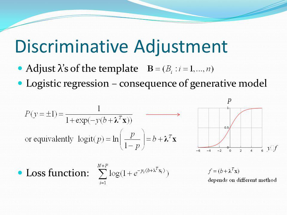 Discriminative Adjustment