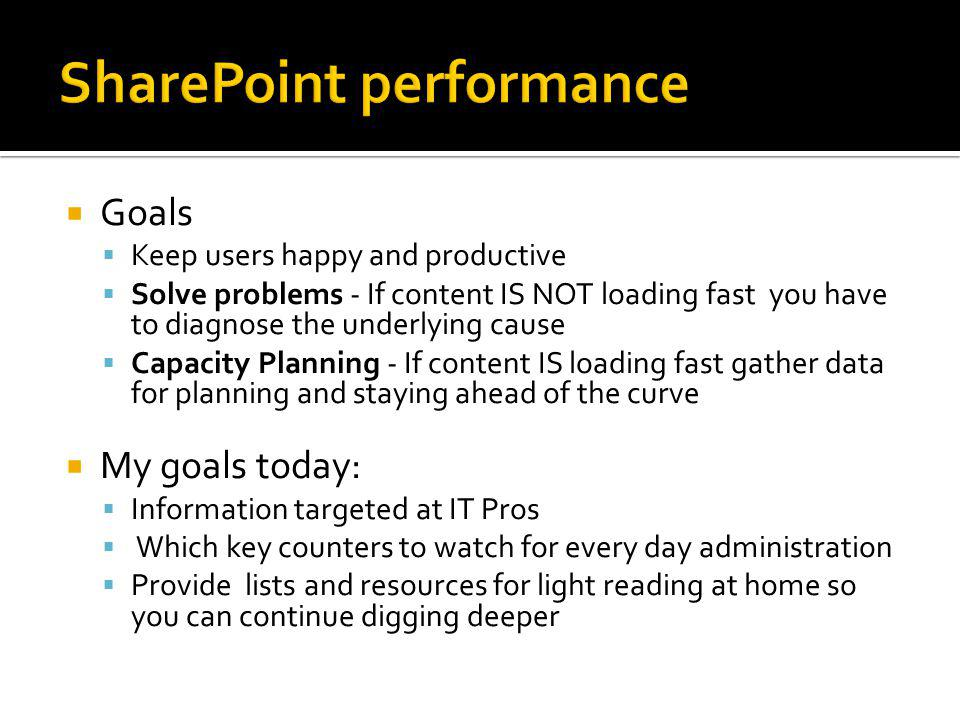 SharePoint performance