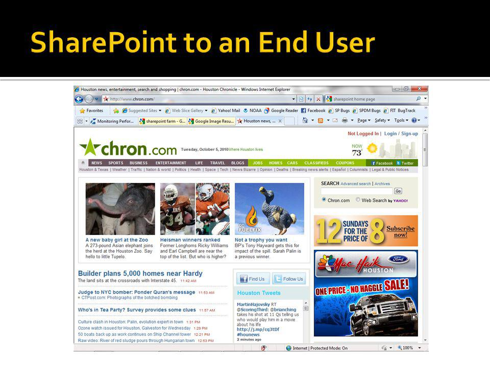 SharePoint to an End User