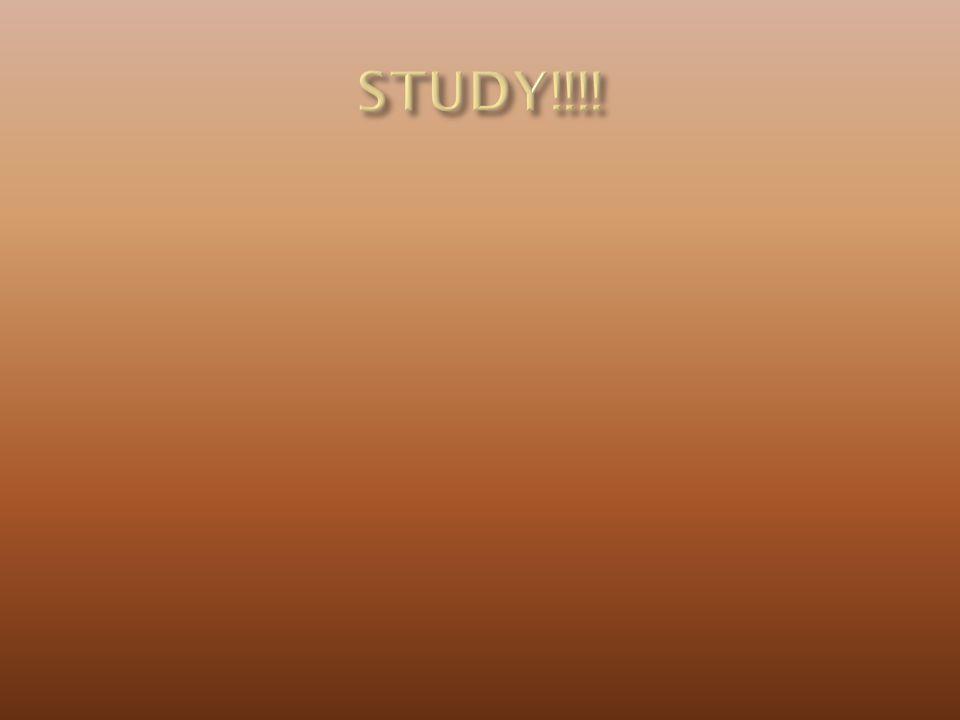 STUDY!!!!