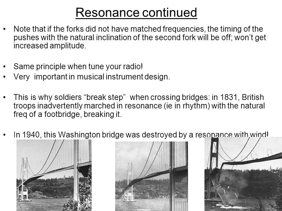 Resonance continued