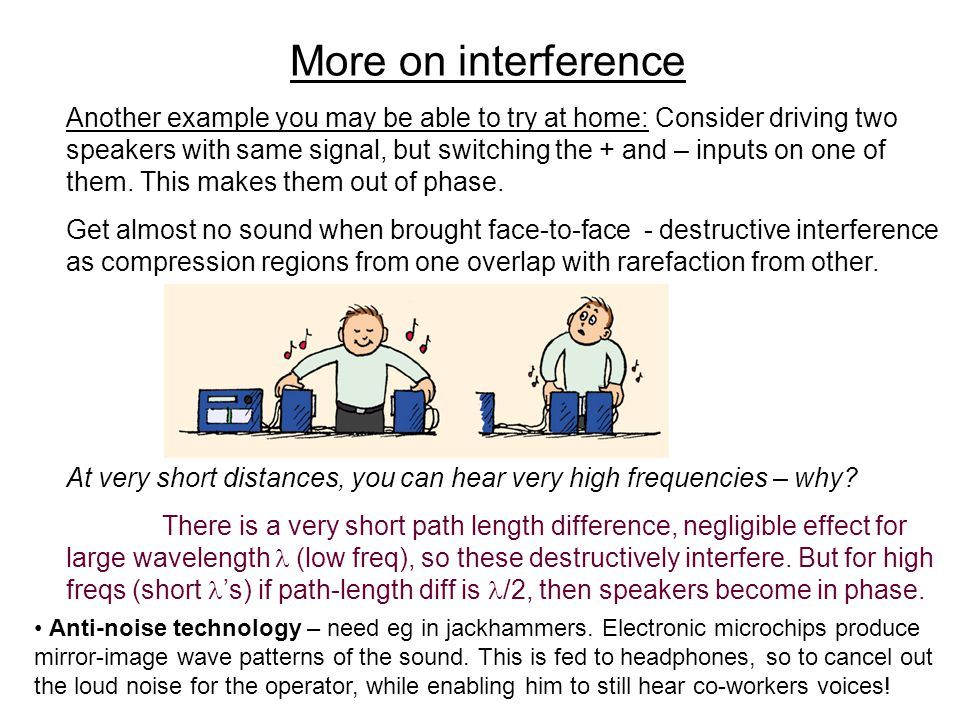 More on interference