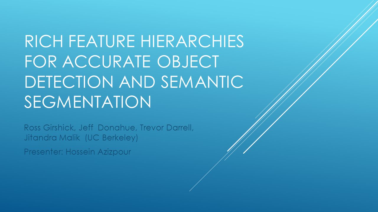Rich feature Hierarchies for Accurate object detection and semantic segmentation