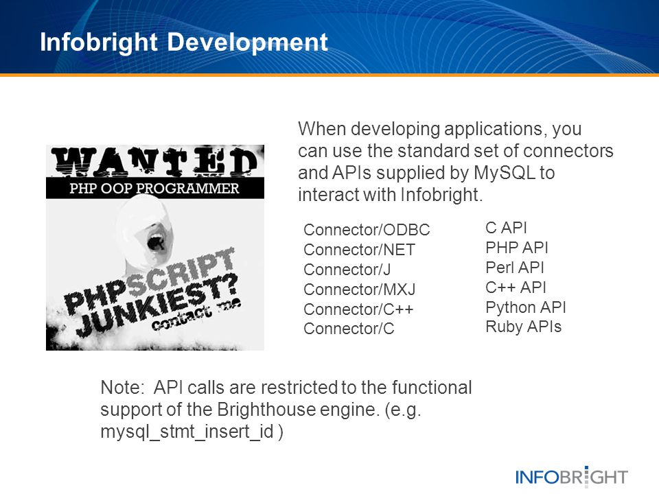 Infobright Development