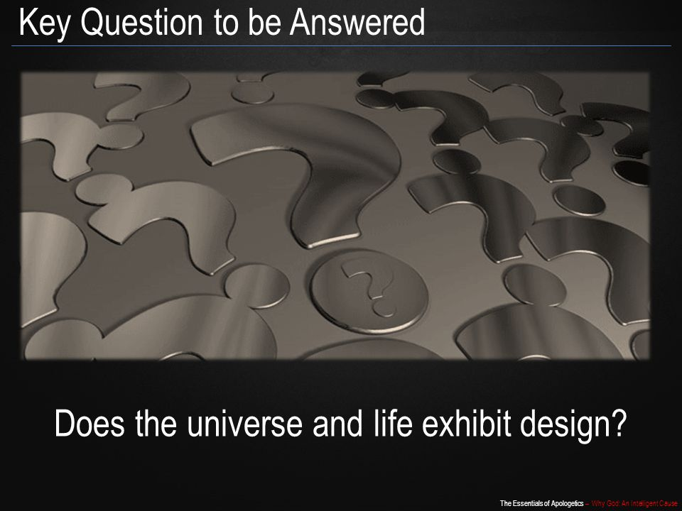 Does the universe and life exhibit design