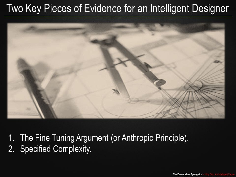 Two Key Pieces of Evidence for an Intelligent Designer