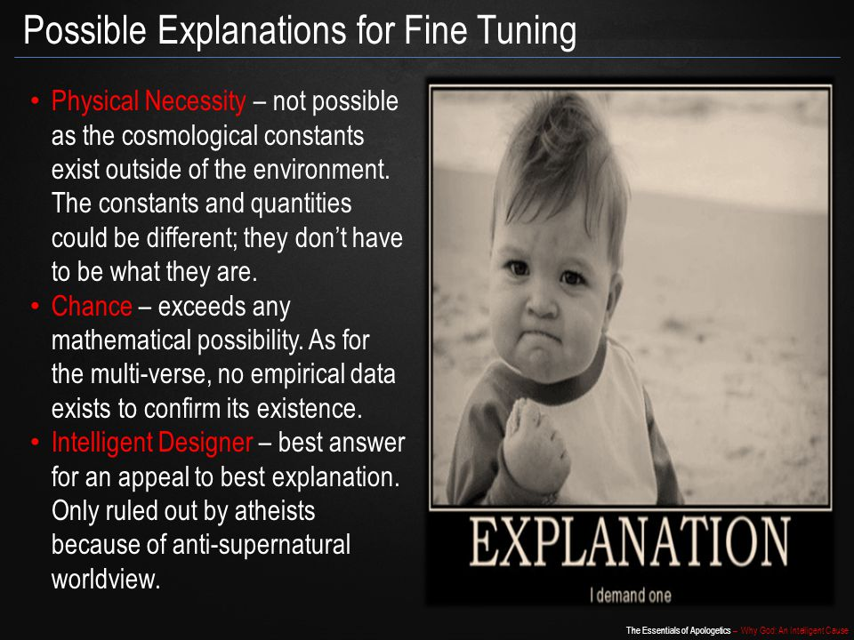 Possible Explanations for Fine Tuning