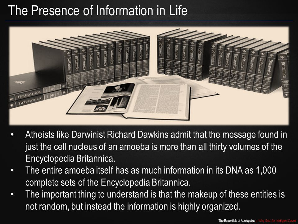 The Presence of Information in Life