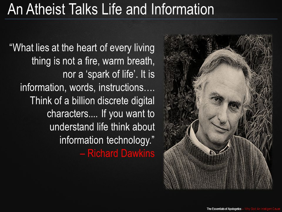 An Atheist Talks Life and Information