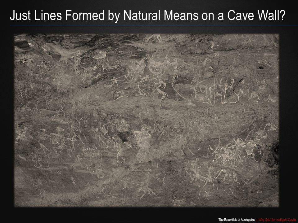 Just Lines Formed by Natural Means on a Cave Wall
