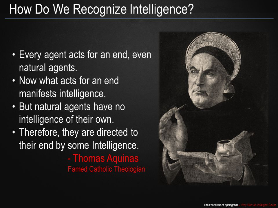 How Do We Recognize Intelligence