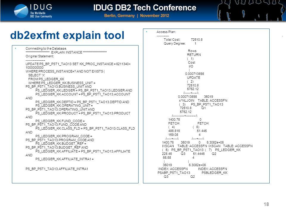 db2exfmt explain tool
