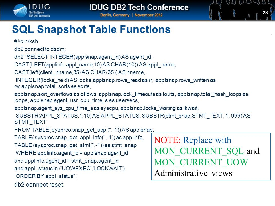 SQL Snapshot Table Functions