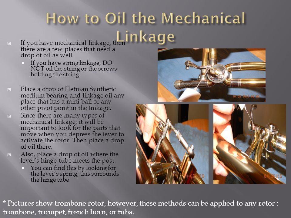 How to Oil the Mechanical Linkage