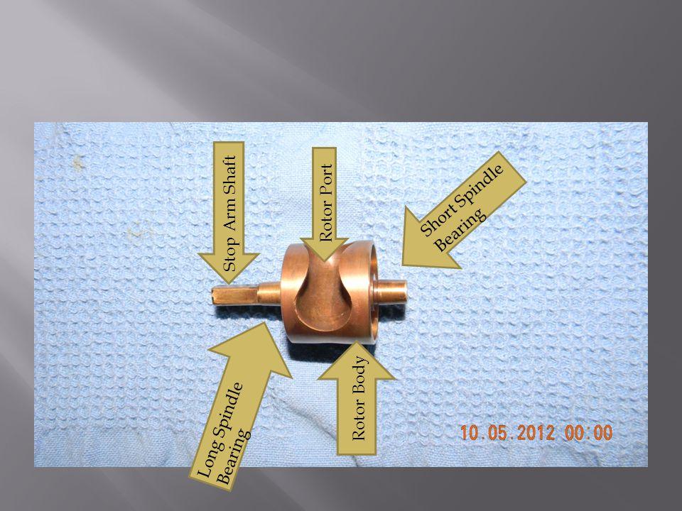 Short Spindle Bearing Rotor Port Stop Arm Shaft Rotor Body Long Spindle Bearing