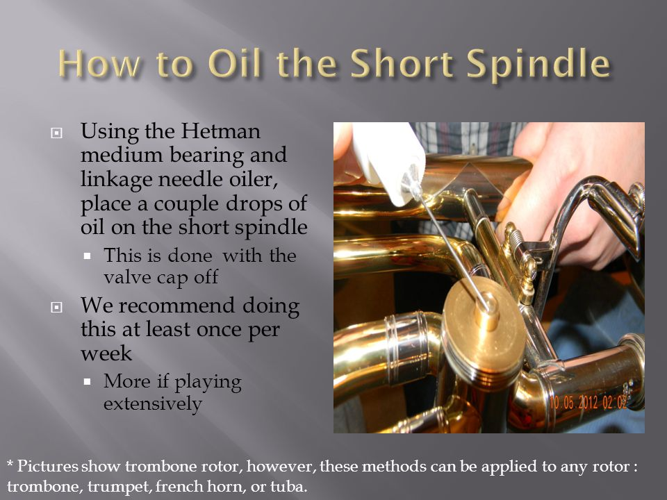 How to Oil the Short Spindle