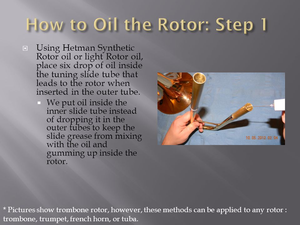 How to Oil the Rotor: Step 1