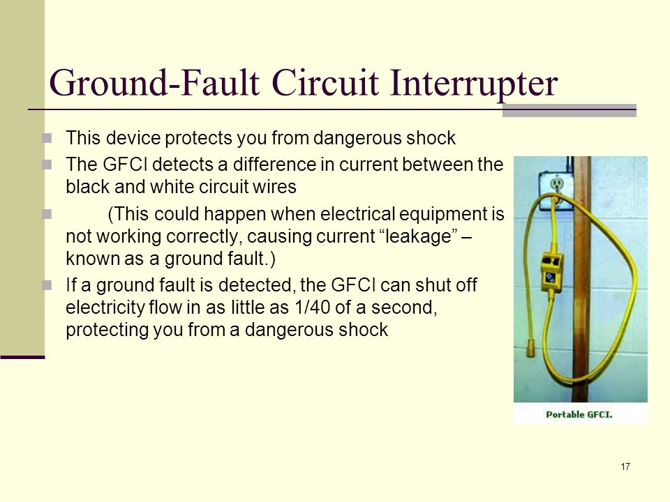 Ground-Fault Circuit Interrupter