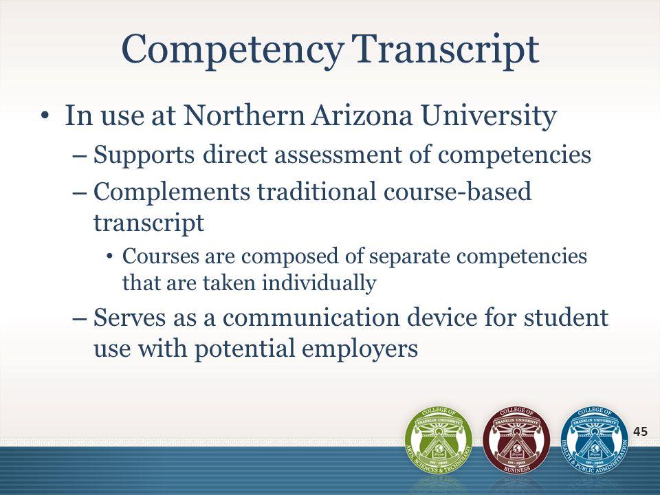 Competency Transcript