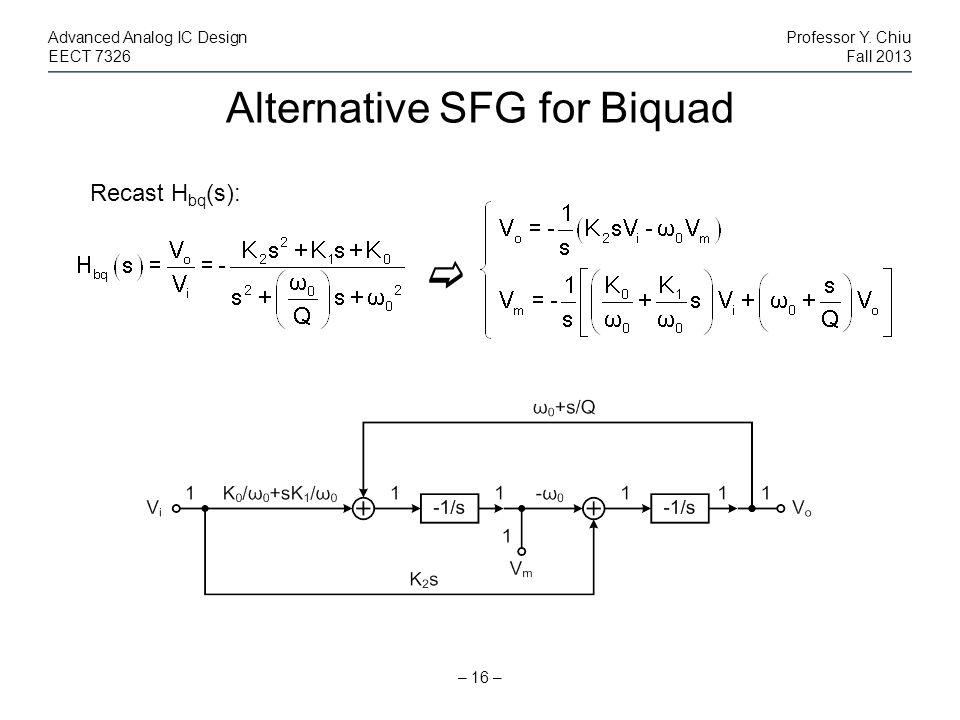 Alternative SFG for Biquad